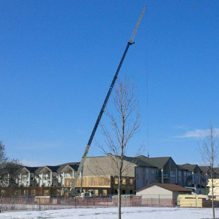 Residential Truss Lifting