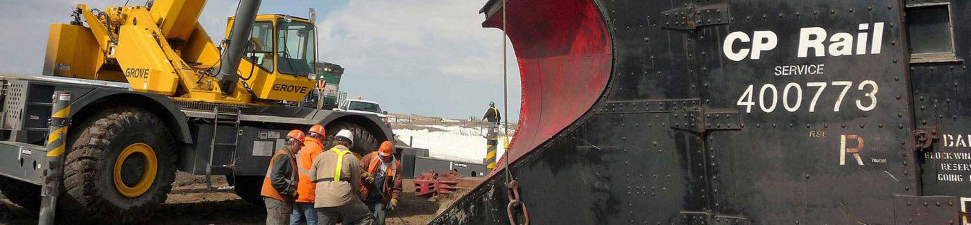 Crane with CP Rail