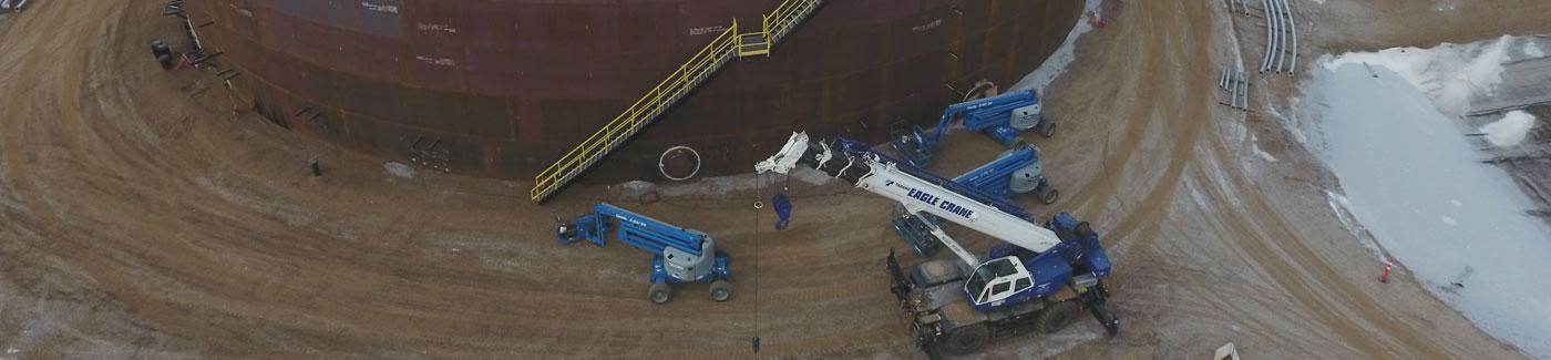 Industrial Drum Crane