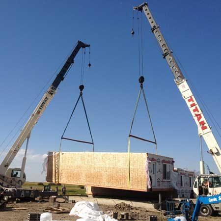 Modular Homes 2 Crane Moving
